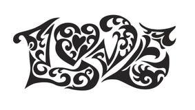 Word logo love tatoo Royalty Free Stock Photos