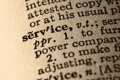 The word service Stock Photography