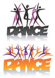 Words Dance with dance group Royalty Free Stock Photo