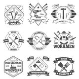 Work Tools Label Set Royalty Free Stock Photography