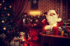 Worker santa Royalty Free Stock Photos
