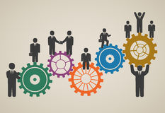 Workforce, team working, business people in motion Stock Image