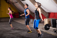 Working out with a jump rope Stock Photography