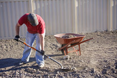 Working in the yard Stock Photography