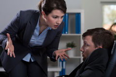 Workplace bullying Stock Photos