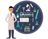 Workplace scientist chemist Royalty Free Stock Image