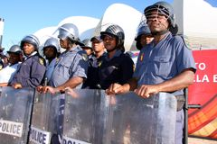 World Cup Riot Police Royalty Free Stock Photo