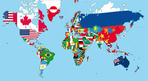 The world map Royalty Free Stock Photos
