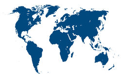 World map. Vector illustration Stock Images