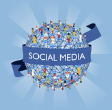 World social media network Royalty Free Stock Image