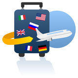 World Travel and Holiday Logo Stock Photography