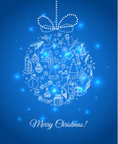 Xmas doodle ball Royalty Free Stock Images