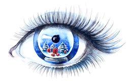 Xmas eye Stock Photos