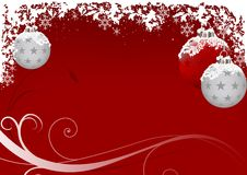 Xmas Red Frost Royalty Free Stock Images