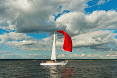 The yacht participating in the regatta Royalty Free Stock Image