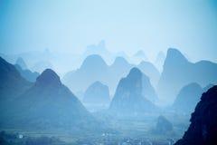 Yangshuo hills Royalty Free Stock Image