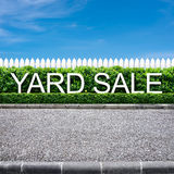 Yard sale sign Royalty Free Stock Images