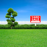 Yard sale sign Stock Images