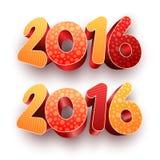 Year 2016 3d Stock Photos
