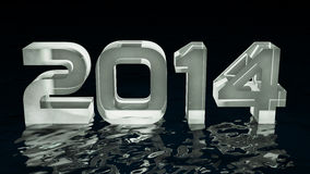 Year 2014 Stock Image