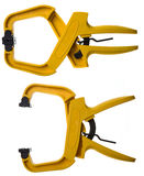 Yellow Clamps Royalty Free Stock Image