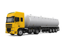 Yellow Fuel Tanker Truck Royalty Free Stock Image
