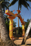 Yellow gate, hinduism temple in Goa Stock Photography