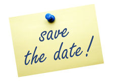 Save the Date Note Royalty Free Stock Image