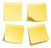 Yellow stick note Royalty Free Stock Photography