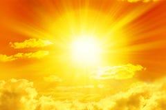 Yellow Sun Sky  Royalty Free Stock Image