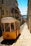 Yellow tram Lisbon Stock Image