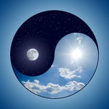 Yin & Yang - Day & Night Stock Images