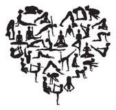 Yoga heart Stock Image