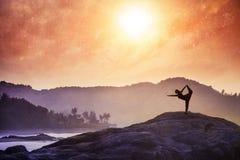 Yoga in Indien Stockbilder
