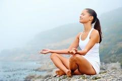 Yoga lifestyle woman Royalty Free Stock Photography