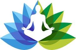 Yoga zen logo Stock Photos