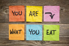 You are what to eat concept Stock Images
