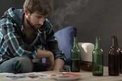 Young alcoholic Stock Photos