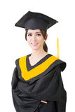 Young asian graduation woman in mantle Stock Photography