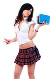 Young attractive sexy schoolgirl Stock Photo