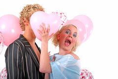 Young blond couple in love Stock Image
