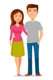 Young cartoon couple Stock Photography