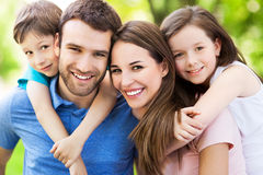 Young family smiling Royalty Free Stock Image