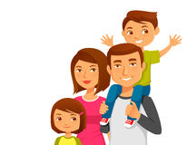 Young happy family with two kids Royalty Free Stock Image