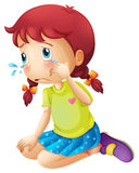 A young lady crying Stock Image