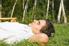 Young man relaxing Stock Photography
