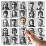 Young men and women Stock Images