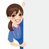 Young Nurse Peeking Royalty Free Stock Image