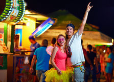 Young people on music festival. youth culture Stock Images