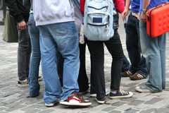 Young people on the street Stock Photography